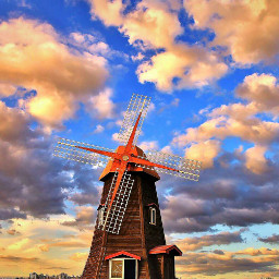 windmill southkorea sorae travel nature