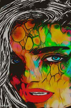 popart retro colorful psychedelic vintage