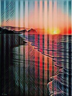 freetoedit myedit badlandsmagiceffect stripes sunset