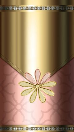 wallpaper gold pink flower android freetoedit