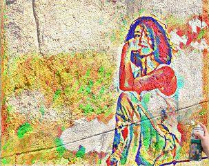 edited doubleexposure woman graffiti magiceffects freetoedit