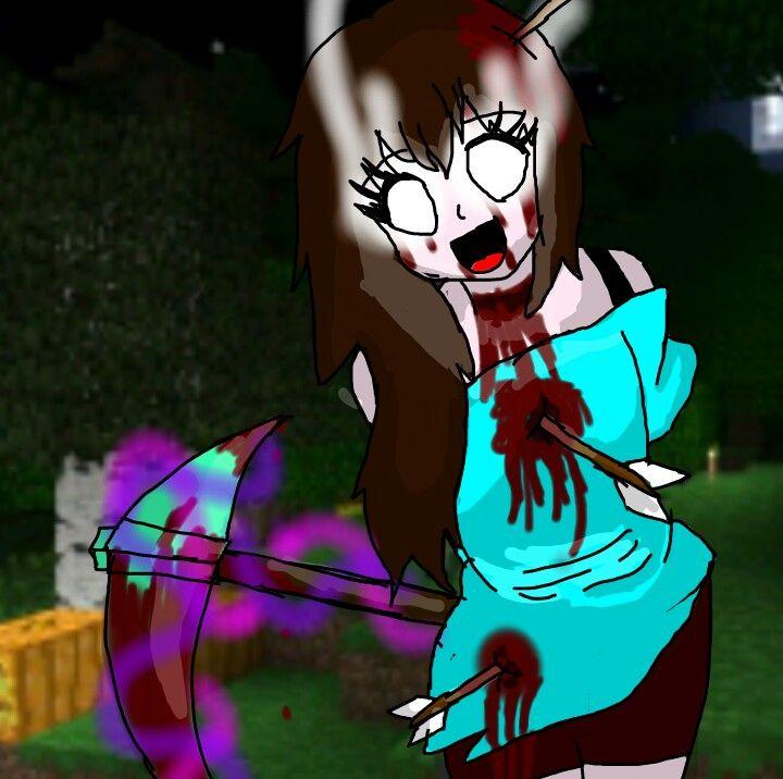 herobrine girl minecraft killer pickaxe enchanted