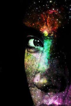 face girl eye galaxy star freetoedit