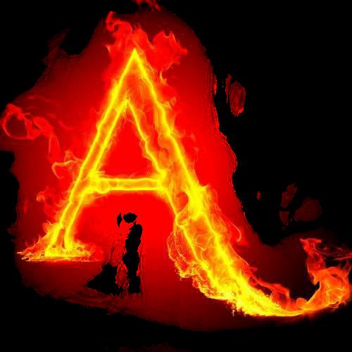 #A #letras  #fire
