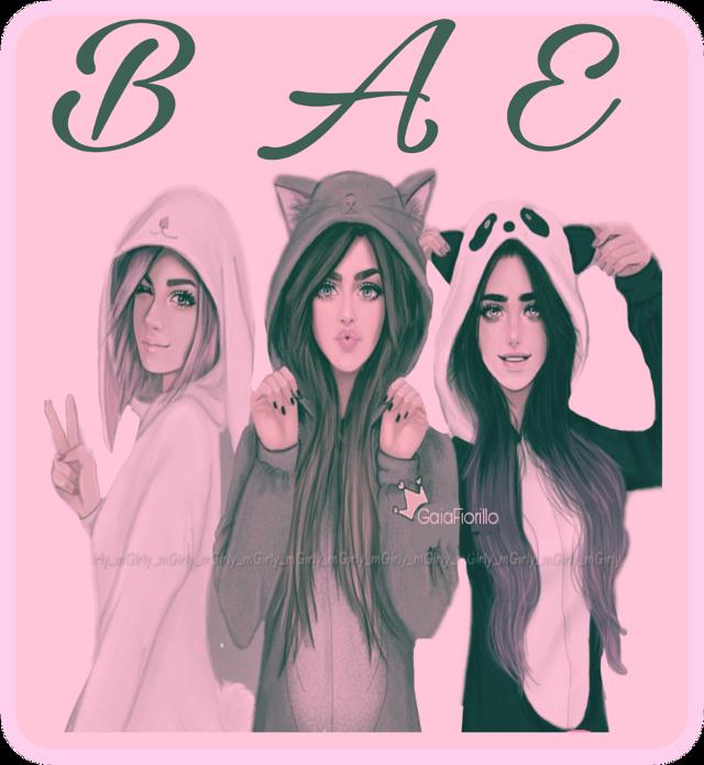My best friends Bella Ava And Ella #bffs