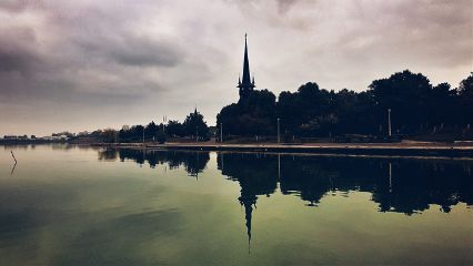 mirror reflection church blackchurch lake