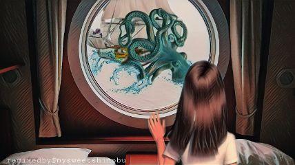 freetoedit girl trouble kraken sealife