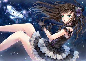 animegirl prettygirl night lights colorful