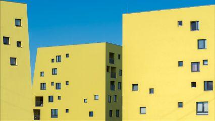 freetoedit yellow urban building minimal
