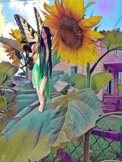 fairy sunflower sunny cutegirl topless