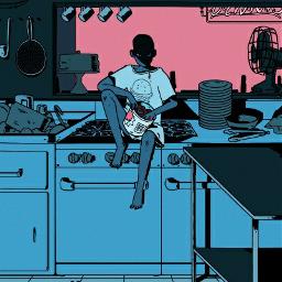 anime art illustration aethestic kitchen