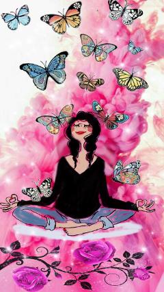 fucsia bubblegum yoga relax meditation freetoedit