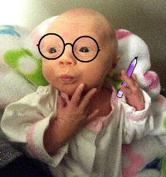 freetoedit thinking baby beautyandbrains girl