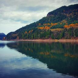 autumn lake reflection washington freetoedit