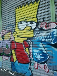 freetoedit graffiti bartsimpson art artecallejero