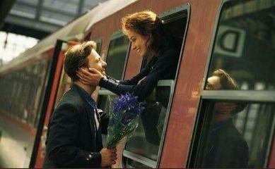 leave girl man train go