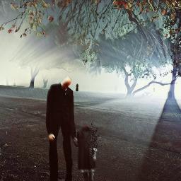 freetoedit slender slenderman holloween halloween