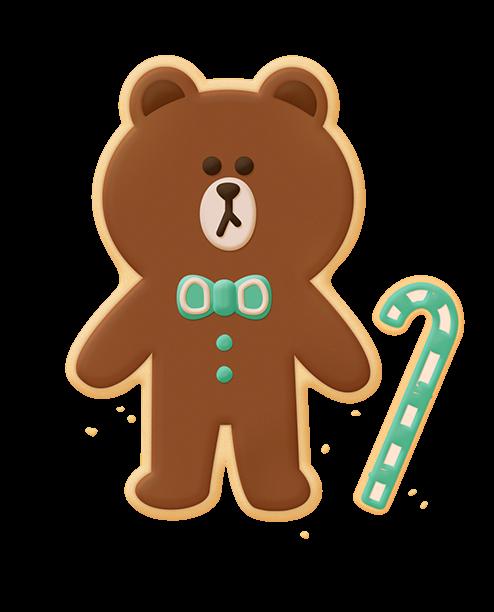 #line #brown #cookies #cute