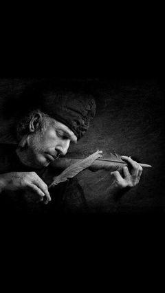 b blackandwhite music man old