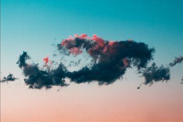 freetoedit clouds blue pink sunset