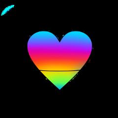saturn heart rainbow planet freetoedit