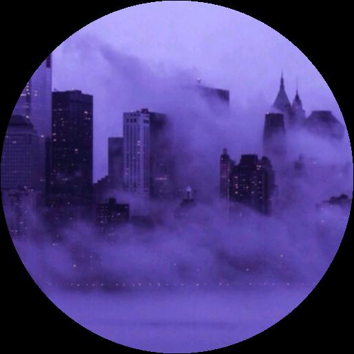 aesthetic circle purple skyline cute...