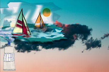 maritimestickersremix maritimestickers ship sea clouds freetoedit