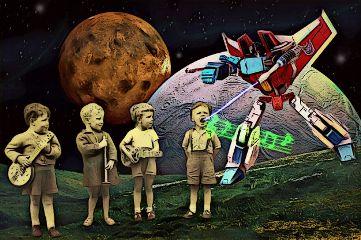 children singing transformer laser planets freetoedit