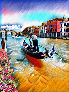 freetoedit animationmagiceffect venice canalegrande gondola
