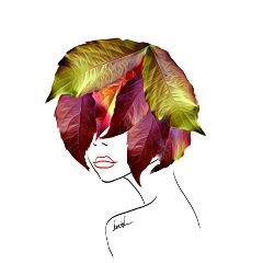hair autumnhair leaves autumnleaves autumniscoming