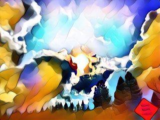 freetoedit clouds sun trees anja