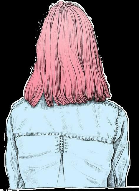 Hair Rose Cabellorosa Outline Tumblr Draw Short Hair