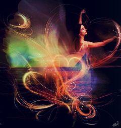 woman hearts colorsplash