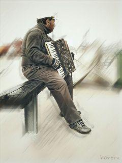 freetoedit sailorman musician peoplephotography effects