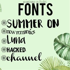freetoedit fonts givecredit tropical foriconers