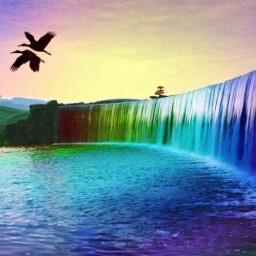 freetoedit color waterfall beauty boat