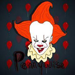 it pennywise clown spooky halloween