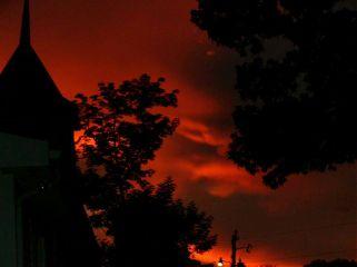 dpcthecolororange sunset church photography noedit