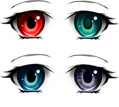 eyes eye color anime cartoon different varieties effect