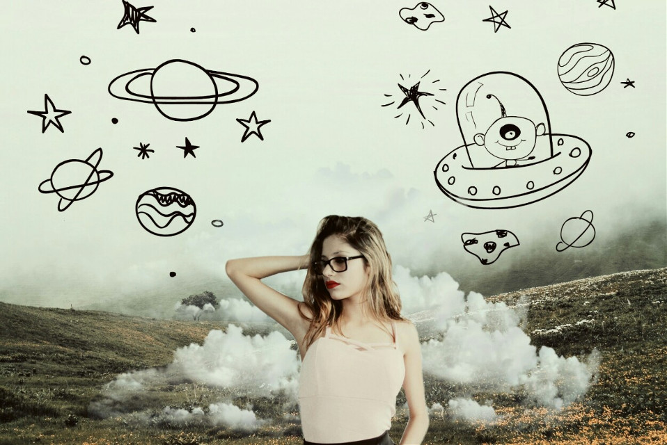 #girl #nature #cloud #space