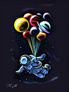 galaxy earth astronaut stars edit freetoedit