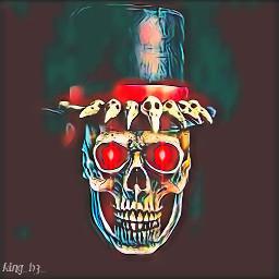 frightnight skullart darkart badlands skullhead freetoedit