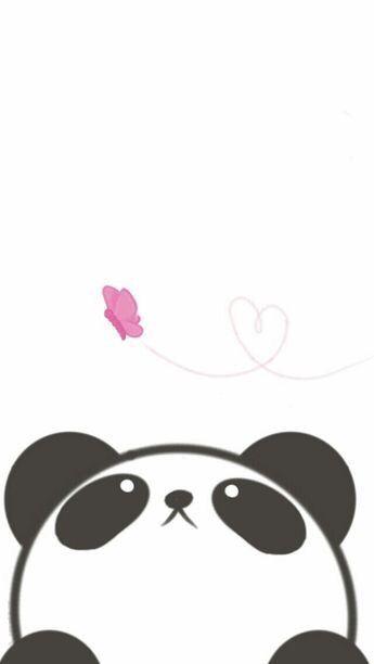 Cute Kawaii Panda Wallpaper Butterfly