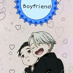 dailyremixsticker yurionice lgtb love hearts freetoedit