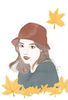 drawing mydrawing girl leaves leaf freetoedit