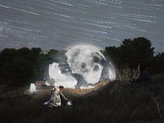 freetoedit remixit woman moon brokenmoon ftestickers