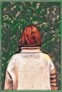 freetoedit woman redhair nature edit