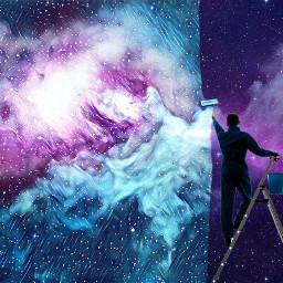 freetoedit backgroundremix painting galaxymagiceffect galaxy
