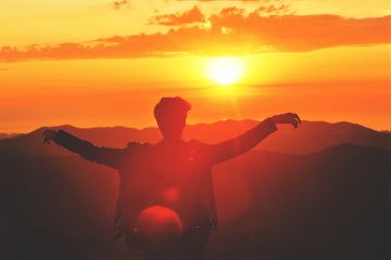 sunset sun people freetoedit