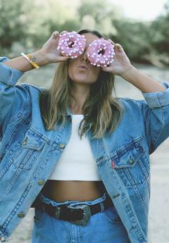 sunday chill sundaychill girl donut